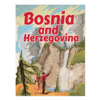 Bosnia and Herzegovina Vintage Travel Poster Postcard