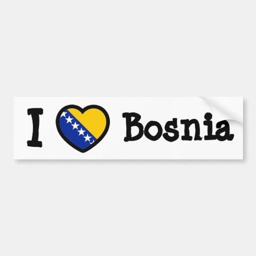 Bosnia Flag Bumper Stickers