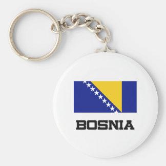 Bosnia Flag Key Ring