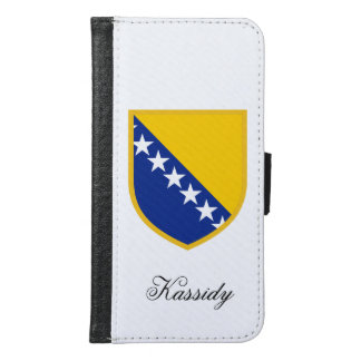 Bosnia Flag Samsung Galaxy S6 Wallet Case