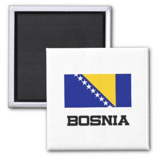 Bosnia Flag Square Magnet