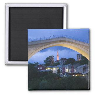 Bosnia-Hercegovina - Mostar. The Old Bridge 2 Square Magnet