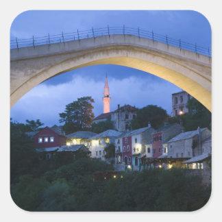 Bosnia-Hercegovina - Mostar. The Old Bridge 2 Square Sticker