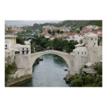 Bosnia-Hercegovina - Mostar. The Old Bridge Poster