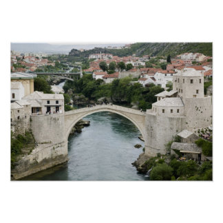 Bosnia-Hercegovina - Mostar. The Old Bridge Poster