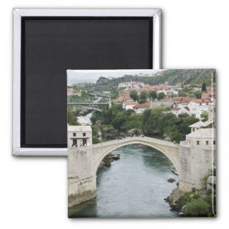 Bosnia-Hercegovina - Mostar. The Old Bridge Square Magnet