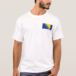Bosnia Herzegovina Flag and Map T-Shirt