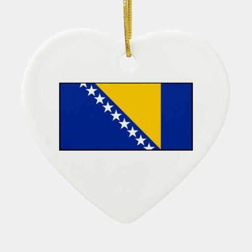 Bosnia & Herzegovina Flag Christmas Ornaments