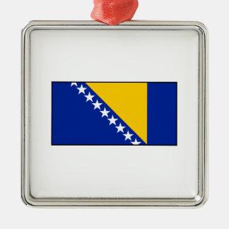 Bosnia & Herzegovina Flag Christmas Tree Ornament