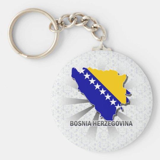 Bosnia Herzegovina Flag Map 2.0 Key Ring