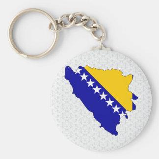 Bosnia Herzegovina Flag Map full size Key Ring