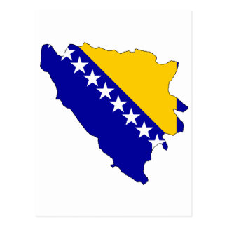 Bosnia Herzegovina flag map Post Cards