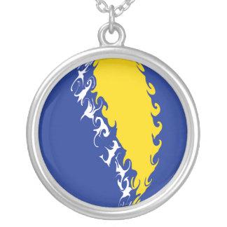 Bosnia Herzegovina Gnarly Flag Necklace
