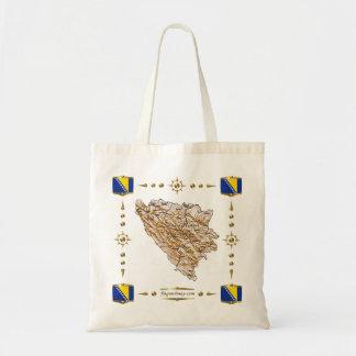 Bosnia Herzegovina Map + Flags Bag