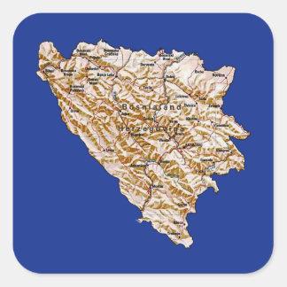 Bosnia Herzegovina Map Sticker
