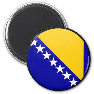 Bosnia Herzegovina quality Flag Circle 6 Cm Round Magnet