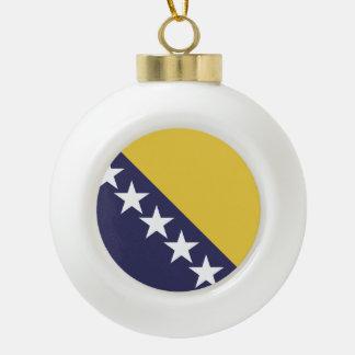 Bosnia Herzgovina Flag Ceramic Ball Decoration