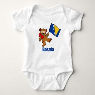 Bosnia Teddy Bear Baby Bodysuit