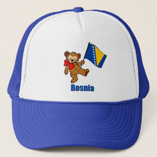 Bosnia Teddy Bear Trucker Hat
