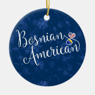 Bosnian American Hearts, Christmas Tree Ornament, Christmas Ornament