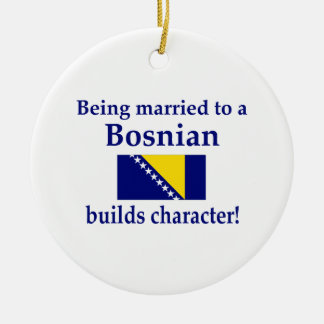 Bosnian Builds Character Round Ceramic Decoration