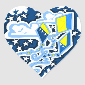 Bosnian Flag Kites sticker
