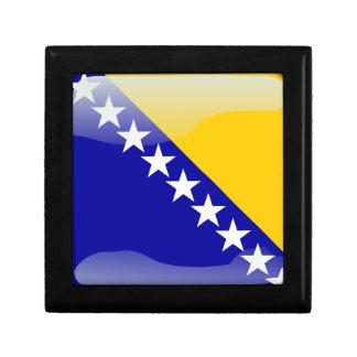 Bosnian glossy flag gift box