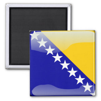 Bosnian glossy flag square magnet