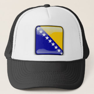 Bosnian glossy flag trucker hat