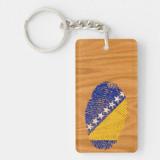 Bosnian touch fingerprint flag key ring