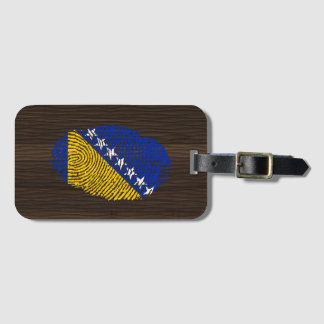 Bosnian touch fingerprint flag luggage tag