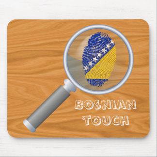 Bosnian touch fingerprint flag mouse pad