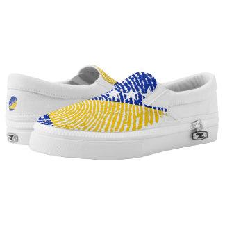 Bosnian touch fingerprint flag Slip-On shoes