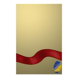 Bosnian touch fingerprint flag stationery