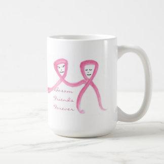 """""""Bosom Friends Forever"""" Breast Cancer Awareness Basic White Mug"""