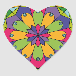 Bosom Mandala 1 Heart Sticker