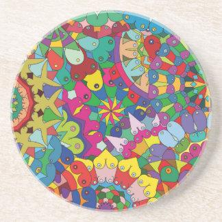 Bosom Mandala collage Coasters