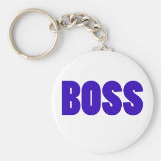 Boss Basic Round Button Key Ring