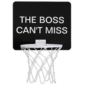 Boss Basketball Executive Gift Mini Basketball Hoop