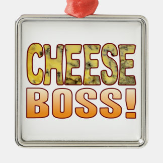 Boss Blue Cheese Silver-Colored Square Decoration