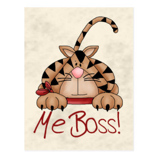 Boss Cat Postcard