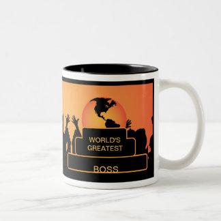 Boss Cheering World's Greatest Mug