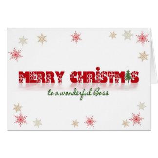 Boss' Christmas Card