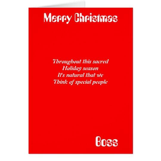Boss Christmas greeting cards