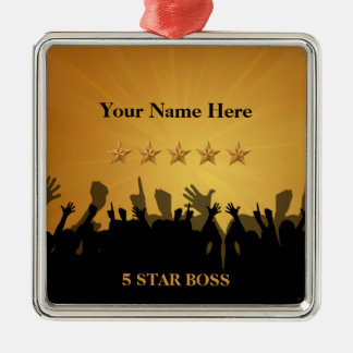Boss Five 5 Star Gold Cheers Ornament