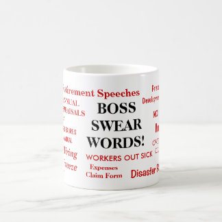 Boss Gift - Funniest Rudest Boss Mug - Swear Words