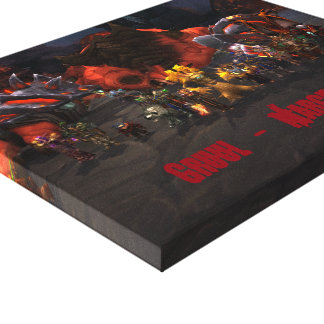 Boss Kill Canvas Gallery Wrapped Canvas