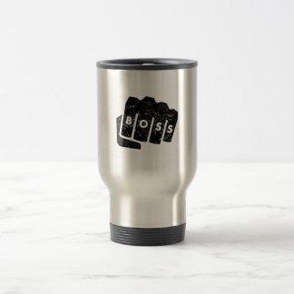 Boss Knuckle Tattoo (Distressed) Stainless Steel Travel Mug