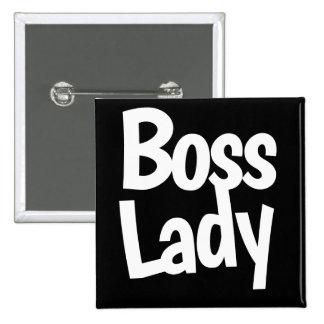 Boss lady 15 cm square badge