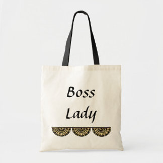 Boss Lady Budget Tote Canvas Bag